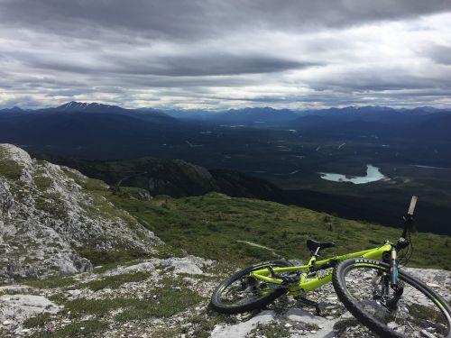 mountain biking downhill grey mountain