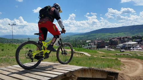 mountain biking downhill mountain biking bicycle