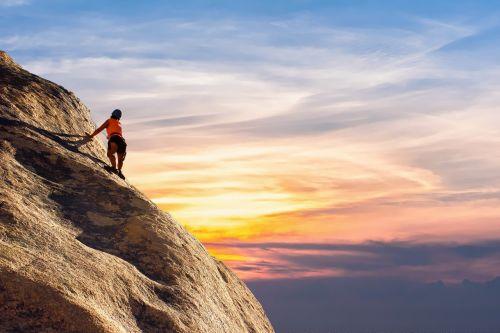 mountain climber sky landscape