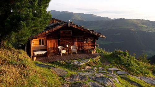 mountain hut mountains hut