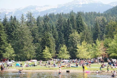 mountain lake swimming british columbia