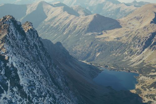 mountain lake valley landscape
