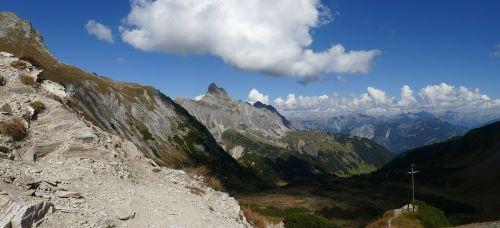 mountain panorama montafon mountains