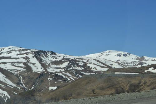 mountain peaks mountains snow