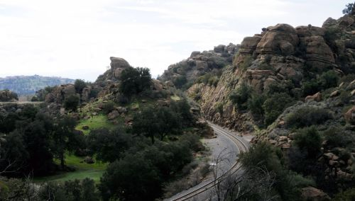 Mountain Railroad Tracks