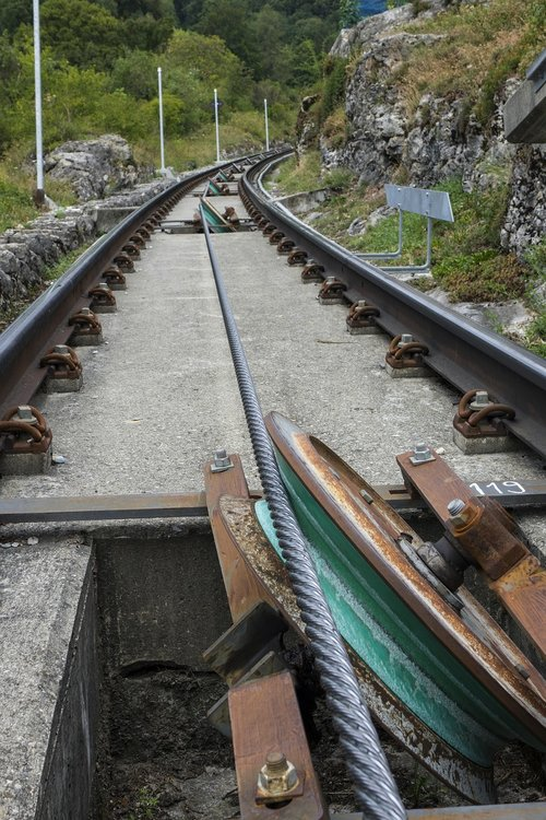 mountain railway  funicular railway  wire rope