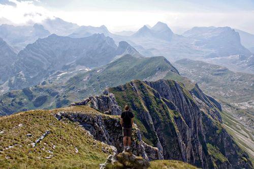 mountain range mountain scene range