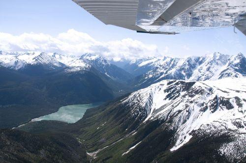 mountain range british columbia aerial