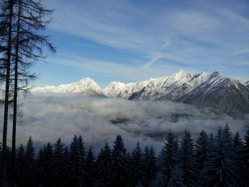 mountain range tyrol austria