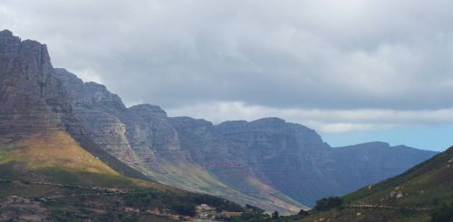 mountain range table mountain cape town