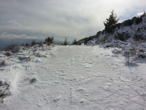 mountain road snowed road mountain