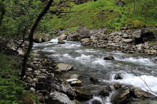 mountain stream norway wild