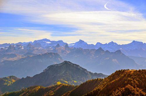 mountain summit panorama mountain panorama