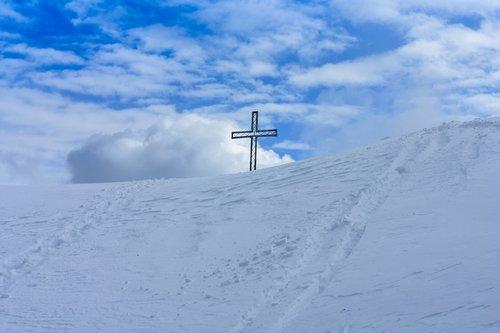 mountain summit  summit cross  summit