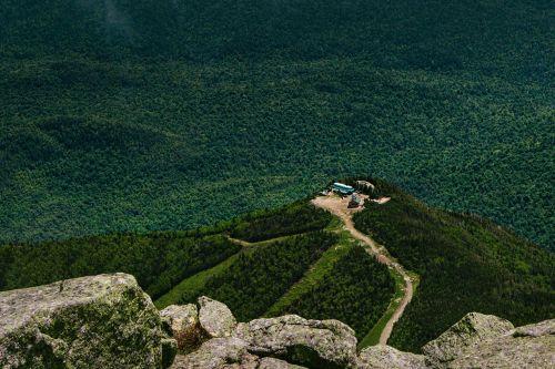 mountain top mountain aerial