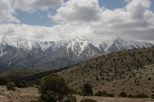mountain view taurus mountains snowy mountains