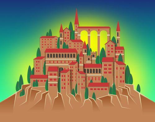 kalnų kaimas,kalnas,kaimas,kraštovaizdis,šviesus,spalvinga,ruda,mėlynas,kaimas,kaimas,turizmas,pastatas,tradicinis,kalnas,architektūra,spiers,stogai,klasteris,viadukas,Akvedukas,senas