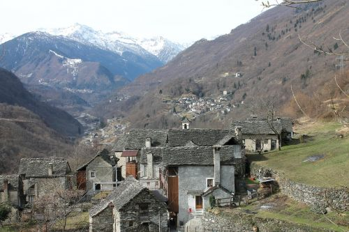 mountain village north italy alpine village