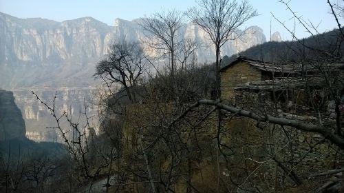 mountain village,mountain,tree