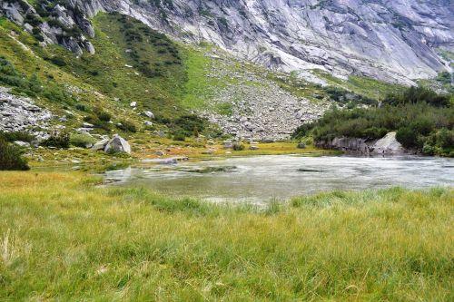 kalnų pasaulis,kalnai,Šveicarija,gamta,Bergsee,sluoksnis,kalnų peizažas