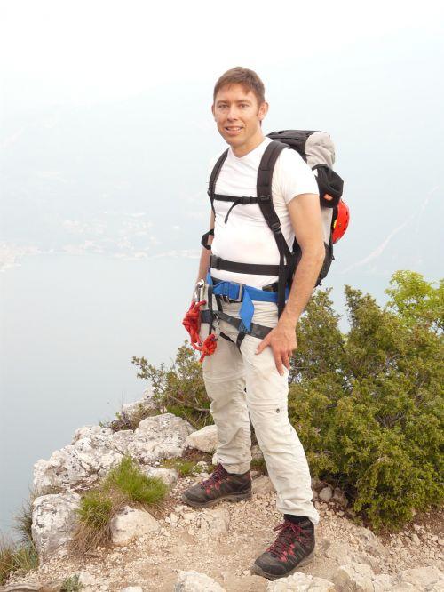 mountaineer wanderer satisfied