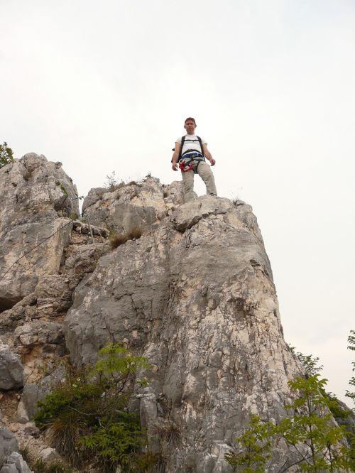 mountaineer wanderer man