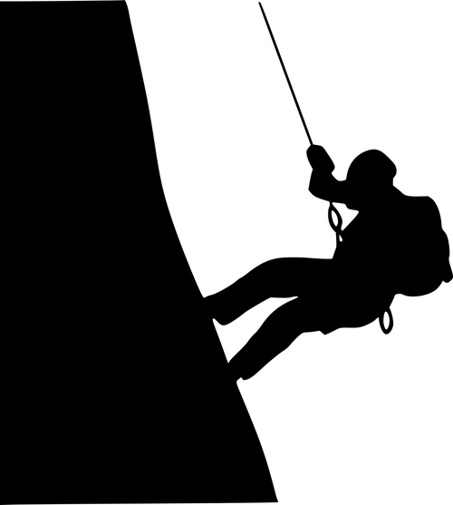 mountaineer  climb  silhouette