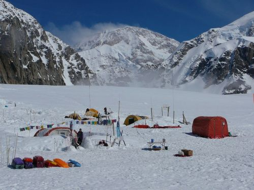 mountaineering basecamp landscape