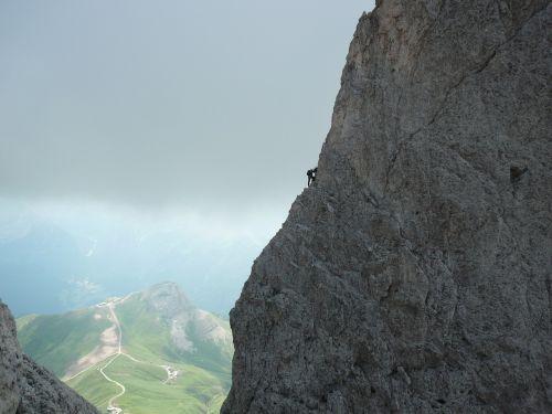 mountaineering rock dolomites