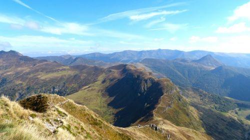 mountains ridge landscape