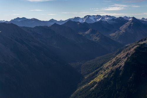 mountains crags range