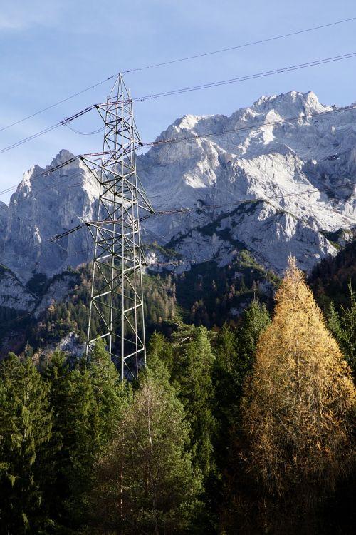 mountains alpine pylon