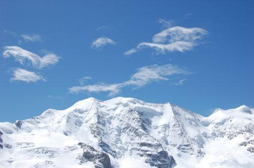 mountains piz palu bernina