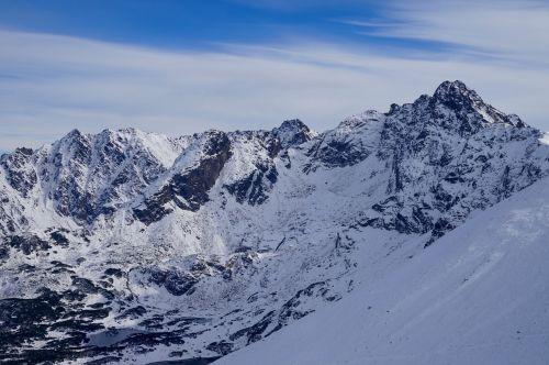 mountains snow winter