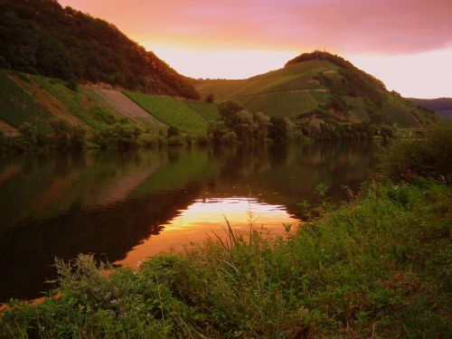 mountains moselle water