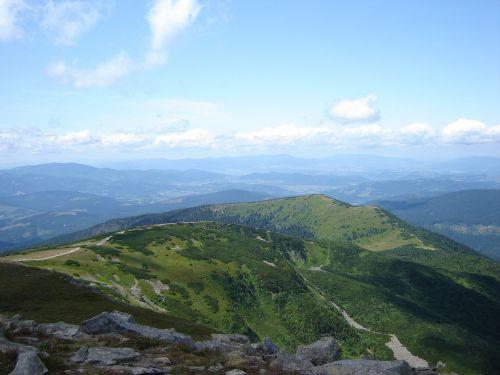 mountains beskids babia top
