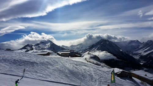 mountains clouds schne