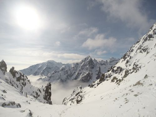 mountains tatry snow