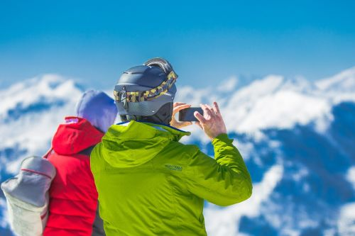 mountains summit winter