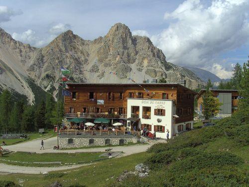 mountains mountain hut dolomites