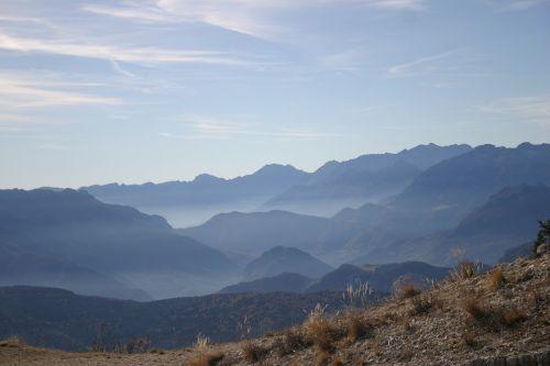 mountains plateau sky