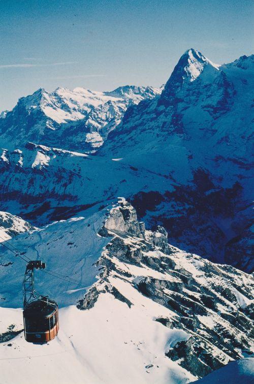 mountains eiger monk