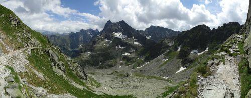 mountains panorama tops