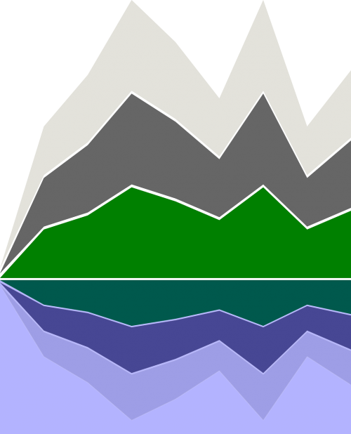 mountains abstract landscape