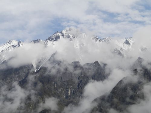 mountains himalayas nepal