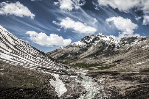 mountains alpine snow