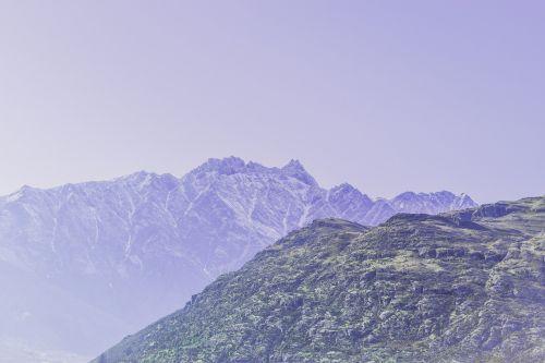 mountains peaks mountain top