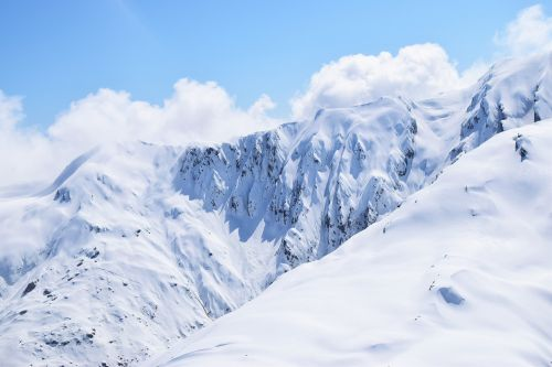 mountains snowy peaks