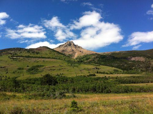 mountains waterton landscape