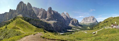 mountains val gardena yoke dolomites